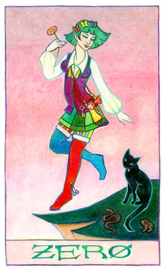 Zero, or The Fool:The Fool represents new beginnings and not really being ready but doing it anyway.
