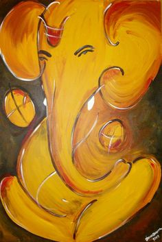 GANESH PAINTINGS, GANESH ART, HINDU ART