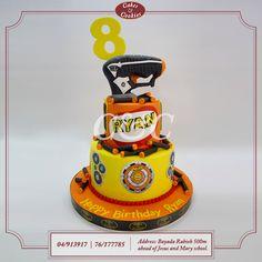 Ryan always keeps his eye on the target! #cakesandcookieslb #cake #cakes #birthdaycake #delicious #chocolate #dessert #sweet #birthday #sugarart #Lebanon