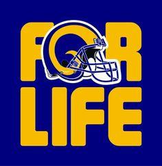 Rams for life! La Rams Football, Nfl Rams, Football Fever, Sean Mcvay, Eric Dickerson, Ram Wallpaper, Professional Football Teams, Nfc West, Fan Image