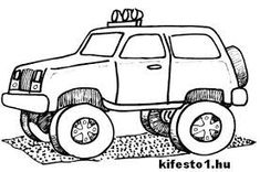 Another monster truck to color Easy Christmas Crafts, Christmas Ornaments, Monster Truck Coloring Pages, Monster Trucks, Monster Jam, Birthday Party Themes, Party Time, Toys, Fun