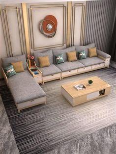 Corner Sofa Design, Sofa Bed Design, House Furniture Design, Living Room Sofa Design, Home Room Design, Home Interior Design, Dining Room, Sofa For Living Room, Condo Living Room