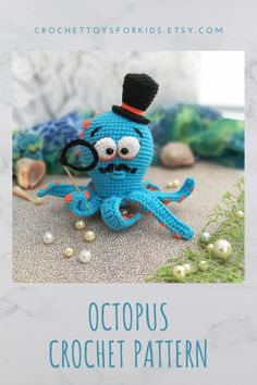 Crochet OCTOPUS Pattern, amigurumi sea animals