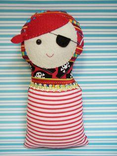 Plush Pirate Nesting Doll.. a snuggly babushka!