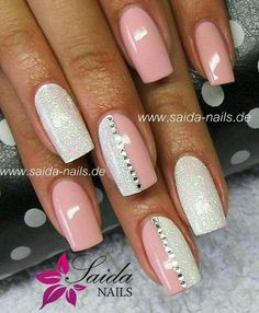 Nails ideas :classy beautiful nail art games-cute nail designs of 2013 Fancy Nails, Trendy Nails, Love Nails, How To Do Nails, Fabulous Nails, Gorgeous Nails, Nagellack Design, Peach Nails, Gem Nails