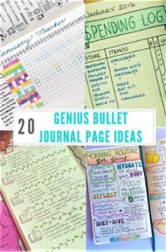 20 Genius Bullet Journal Page Ideas That Will Keep You Organized AF