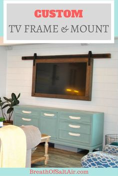 With the shiplap finished and the living room getting closer to completion, I knew the next thing I wanted to tackle was mounting the TV on the wall. Before we installed shiplap on this wall, we ma…