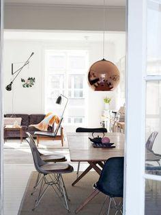 Vintage Ausgefallene Esstischlampen peppen die Essecke auf Die K che ist das Herz der Wohnung Sehr oft teilt sie in modern eingerichteten H usern einen Raum mit
