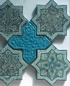 Cross-Cultural Trade and Cultural Exchange During the Crusades - The Sultan and The Saint Tile Patterns, Pattern Art, Textures Patterns, Islamic Architecture, Art And Architecture, Islamic Tiles, Islamic Art Pattern, Mosaic Tiles, Tiling