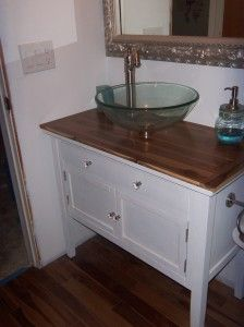 1000 images about dresser converted to vanity on for Turning a dresser into a bathroom vanity