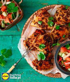 Glazurowane udka kurczaka z marokańską sałatką. Kuchnia Lidla - Lidl Polska. #lidl #kurczak