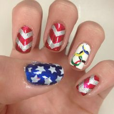 Team USA nails!! Go USA in the Olympics!!