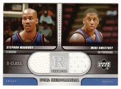 Stephon Marbury / Mike Sweetney # R2-MS - 2004-05 Upper Deck R-Class Basketball - R-Tifacts Dual Jerseys NBA Jersey