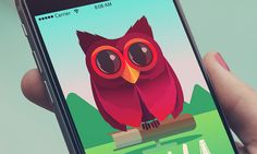 https://flic.kr/p/uNeVts | Owl illustration, UI mobile application
