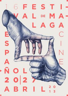 Festival de Cine Malaga by Hey Coso, via Behance