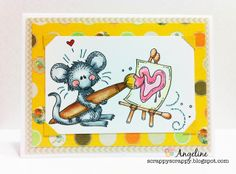 ScrappyScrappy: Painted Love #card #copic