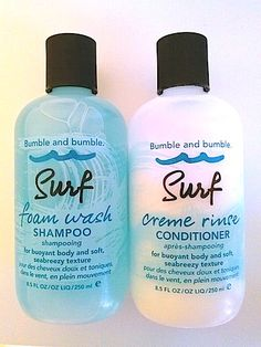 Need to try this. Bumble And Bumble Surf Foam Wash Shampoo, Creme Rinse Conditioner: Get Beachy, Texturize Waves With No Styling Required