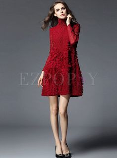Shop for high quality Sweet Stereoscopic Petal Patch Dress online at cheap prices and discover fashion at Ezpopsy.com