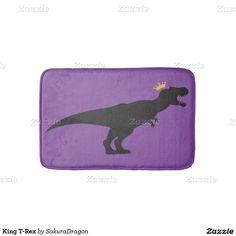 King T-Rex Bath Mats #dinosaurs #tyrannosaurus #rex #trex #jurassic