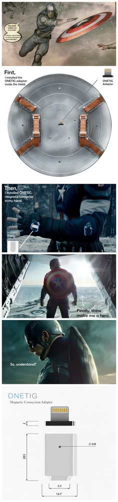 The funny relation between Captain America and ONETIG magnetic adapter…