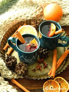 My simple kitchen: Grzane wino Christmas Tea, Christmas Drinks, Xmas, Mulled Wine, Bakery Recipes, Dessert Drinks, Colorful Wallpaper, Winter Time, Drinking Tea