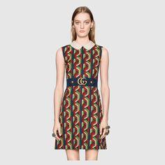 Gucci Web chain print dress Detail 3