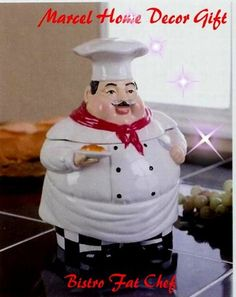 Bistro Fat Chef Kitchen Decor Cookie Jar Canister Ack Http Www Amazon