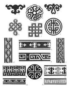 Dozens of ideas for Mongolian design (embroidery, applique etc)