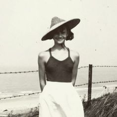Audrey Hepburn at the beach near the Northern Sea, 1941. © Copyrighted Material of the Audrey Hepburn Estate.