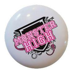 Monster High Ceramic Knob Drawer Dresser Pulls Kitchen Closet Door Bathroom 1552 | eBay