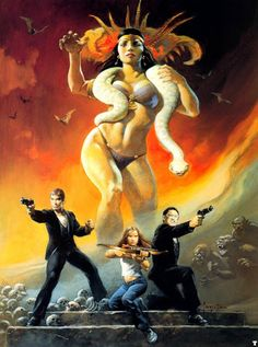 The 7 or 8 Frank Frazetta Prints Robert Rodriguez Wants You to Have Dark Fantasy Art, Fantasy Artwork, Fantasy Art Women, Dark Art, Fantasy Art Warrior, Frank Frazetta, Arte Horror, Horror Art, Arte Assassins Creed