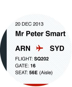 Rethinking the airline boarding pass - PeterSmart