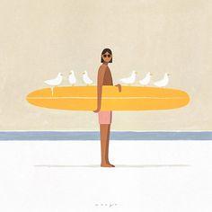 Beach Illustration, Graphic Design Illustration, Digital Illustration, Henri Matisse, Pablo Picasso, Surf Art, Painting & Drawing, Surf Drawing, Art Inspo