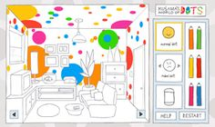 fun website with artist games for kids- yayoi kusama, andy warhol, henri matisse, and others