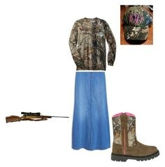 """Hunt on Ladies!"" by angie-rhoton on Polyvore featuring MANGO and RIFLE"