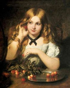 The First Earring - Joshua Hargrave Sams Mann Classic Paintings, Old Paintings, Beautiful Paintings, Renaissance Kunst, Renaissance Paintings, Victorian Paintings, Victorian Art, Aesthetic Painting, Aesthetic Art