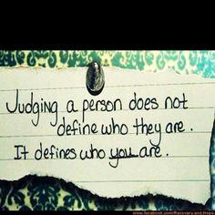 Judgement #Inspiration #Quotes