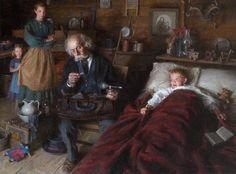 """""""O Médico da Cidade"""" - Morgan Weistling Pintor americano contemporâneo"""