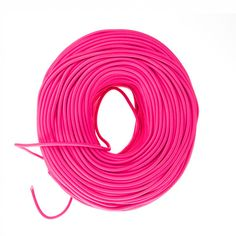 Premium quality cloth covered wire in Hot Pink sold by the foot. Fabric covered wire for DIY lighting projects for pendant lights, lamps and sconces.