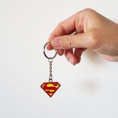 Superman Small Symbol Metal Keyring Keychain