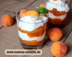 Aprikosen-Quark-Dessert