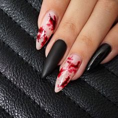 Never too early for Halloween nails!  Bloody nails by @ckatherin85  @_claudiayvette