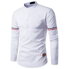 Cheap camisa masculina, Buy Quality sleeve shirt men directly from China brand shirt men Suppliers: Brand Men Shirt 2017 Mens Slim Fit Chemise Homme Color Ribbon Long Sleeve Shirt Men Henry Collar Casual Shirts Camisa Masculina Stand Collar Shirt, Collar Shirts, African Men Fashion, African Wear, Formal Shirts For Men, Casual Shirts, Kurta Pajama Men, Mens Shirts Online, Mens Designer Shirts