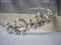 Bridal Special Occasion Headpiece Pearls And by RainwaterStudios, $125.00