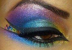 will try this, but make it softer and nyx the rhinestones for a less drag-queen effect