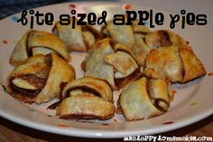 Bite Sized Apple Pies... What an awesome idea. Do I hear Dinner Group?
