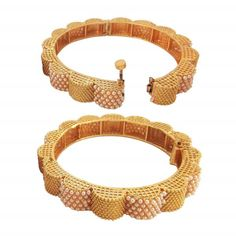Size Available: Inch inner diameter - Inch Circumference) Antique Gold plated Copper Openable Bangles Broad Wedding Bangle Note: Maximum order limit per customers for this product is 5 units. Heart Bracelet, Bangle Bracelets, Pearl Jewelry, Jewelery, Kundan Set, Wine Bottle Art, Indian Art Paintings, Gold Bangles, Antique Gold