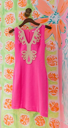 Lilly Pulitzer Janice Knit Shift Dress in Hotty Pink