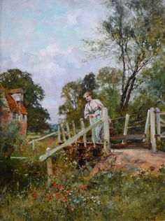Young Beauty by the Old Mill Stream - Sold