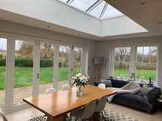 Orangery with timber joinery Orangery Extension, Kitchen Diner Extension, Bungalow Extensions, House Renovation Projects, House Styles, Bungalow Renovation, Sunroom Designs, Roof Extension